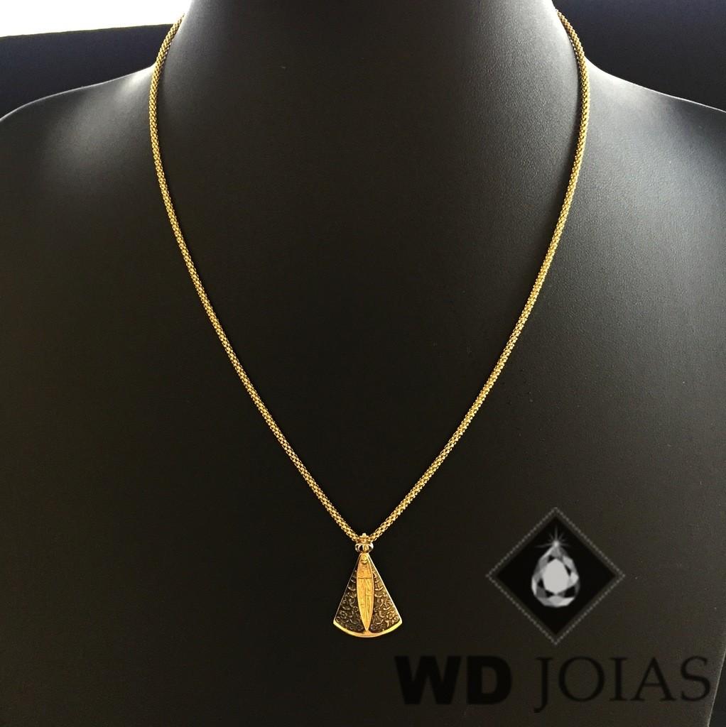 Corrente Ouro 18k Italiano Com Pingente 45 cm 6gr WD8889