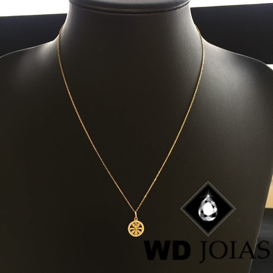 Corrente Ouro 18k Mini Elo Português 60 cm 2,4gr WD8887