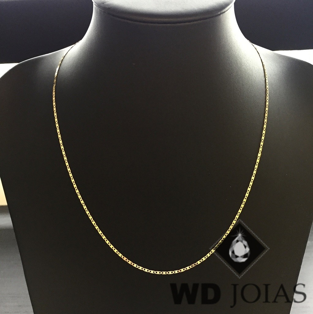 Corrente Ouro 18k Piastrine 55 cm 3,6gr WD8877