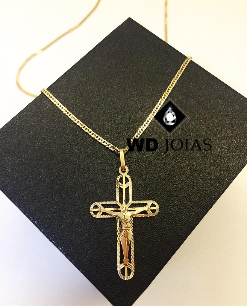 Pingente de Ouro Crucifixo Feminina 1,9gr WD8997