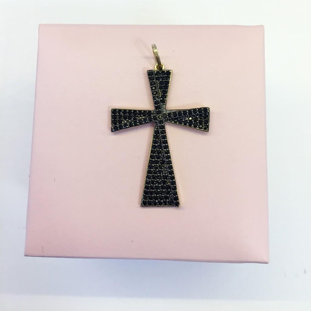 Pingente de Ouro Crucifixo Feminina 3,1gr WD9000