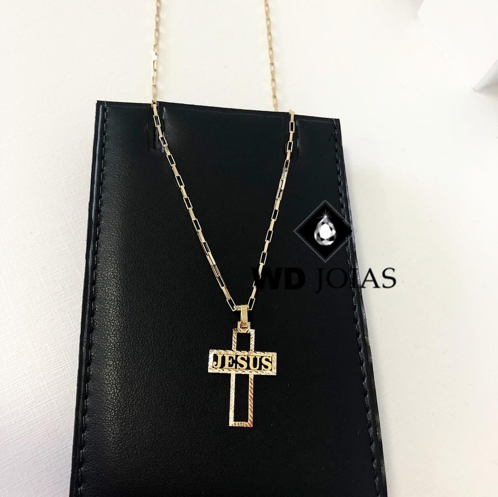 Pingente de Ouro Crucifixo Masculino 1,9gr WD9003