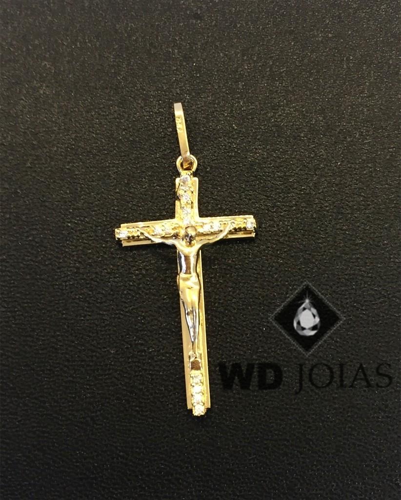 Pingente de Ouro Crucifixo Masculino 2,8gr WD9004