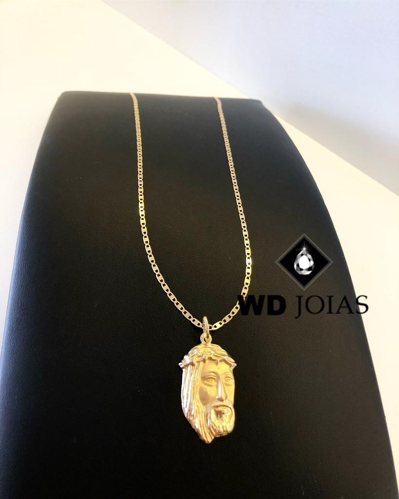 Pingente de Ouro Face de Jesus Cristo 1,5gr WD9002