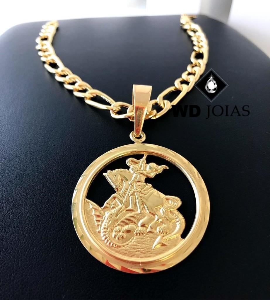 Pingente de Ouro São Jorge Masculino 5,5gr WD8994