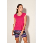 Blusa 2 Recortes Dry Fit Pink