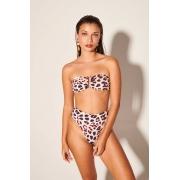 Top Tqc Aro com Calça Hot Pants Leopard