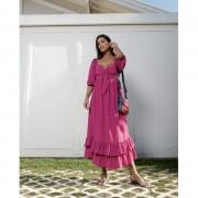 Vestido Midi Cris Pink