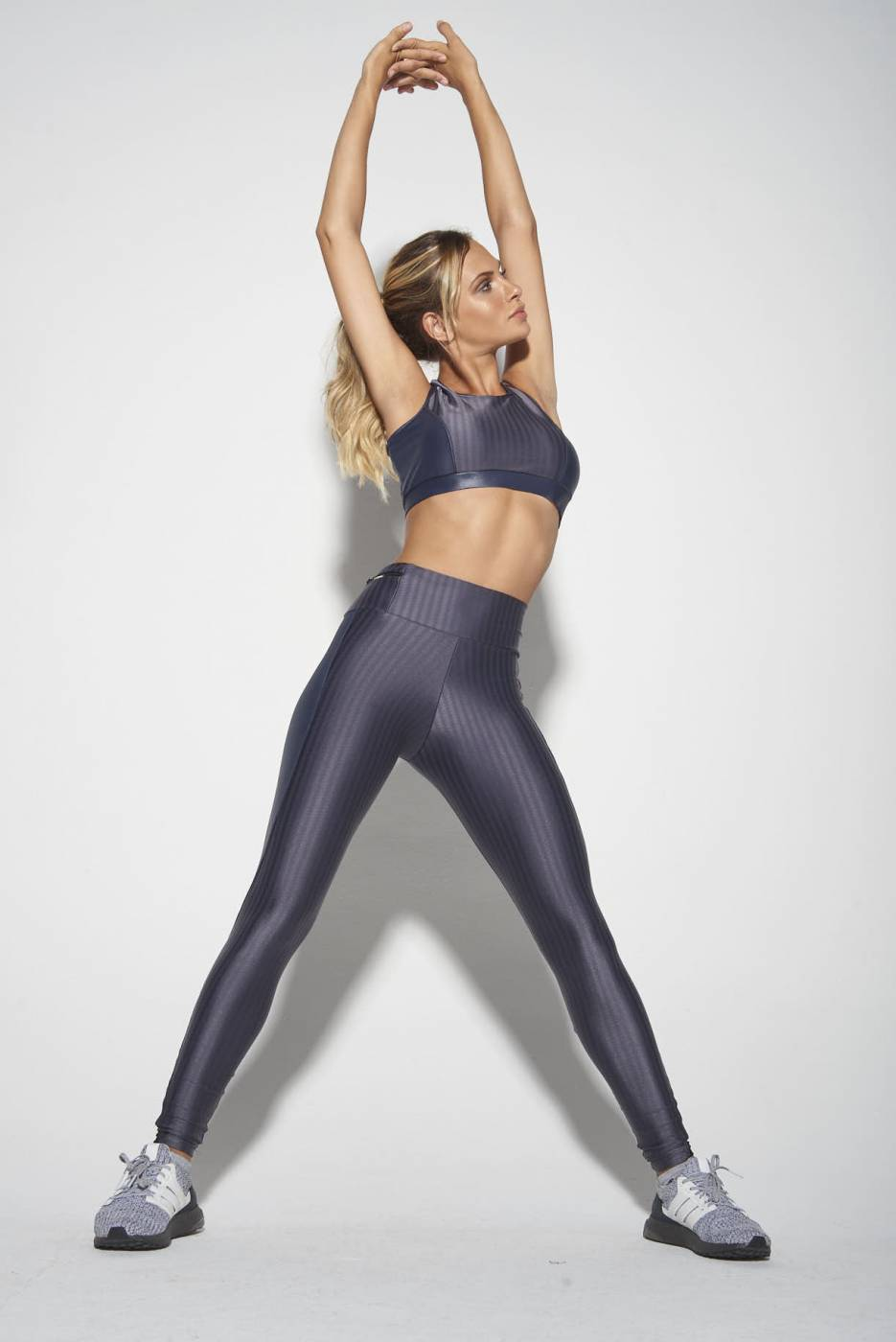 Calça Legging Metalizada Cindy Grafite