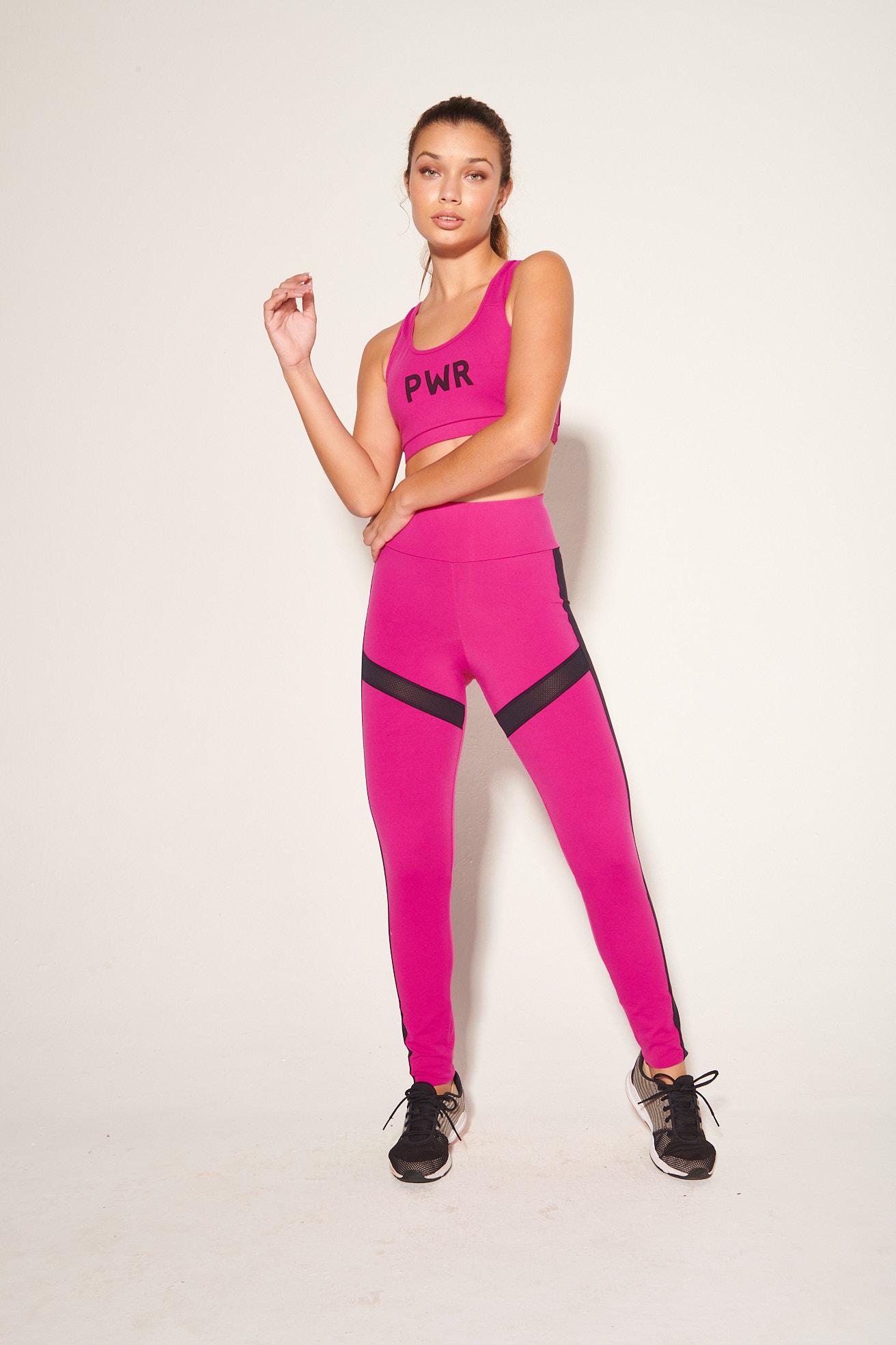 Legging recortes Pink