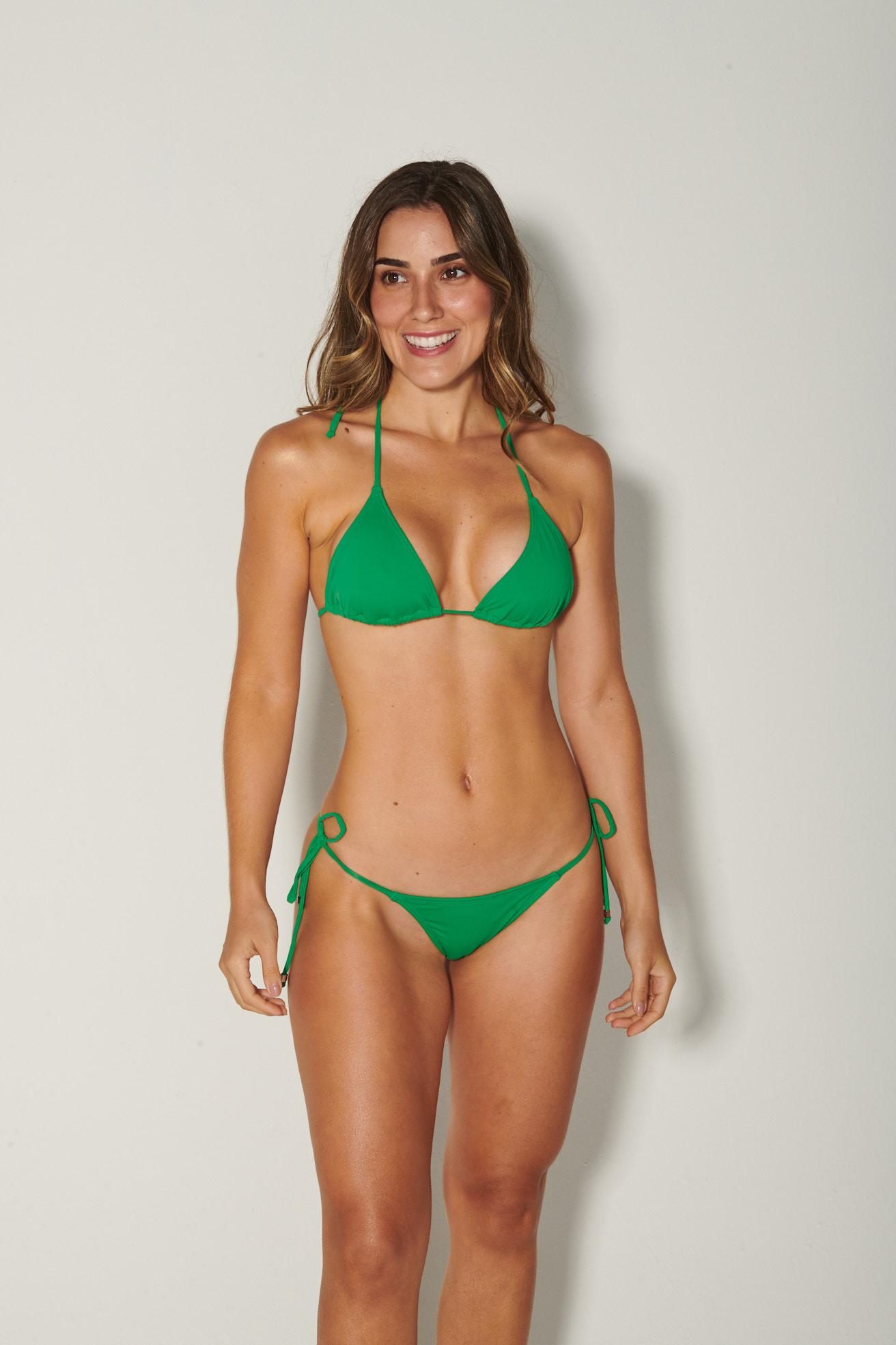 Top Cortininha com Calça Lacinho Verde Bandeira
