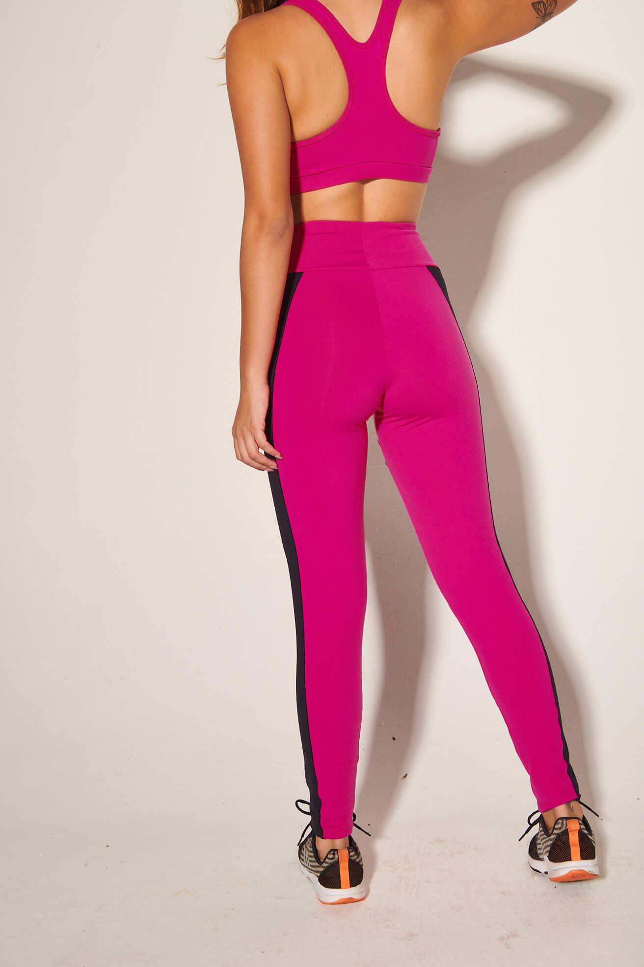 Top Power com Legging Recortes Pink