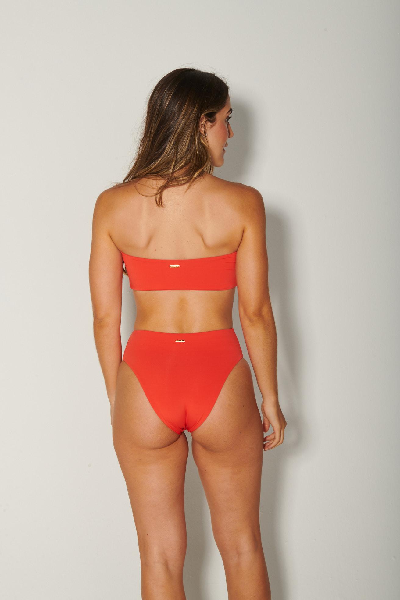 Top Tqc Reto com Calça Hot Pants Coral