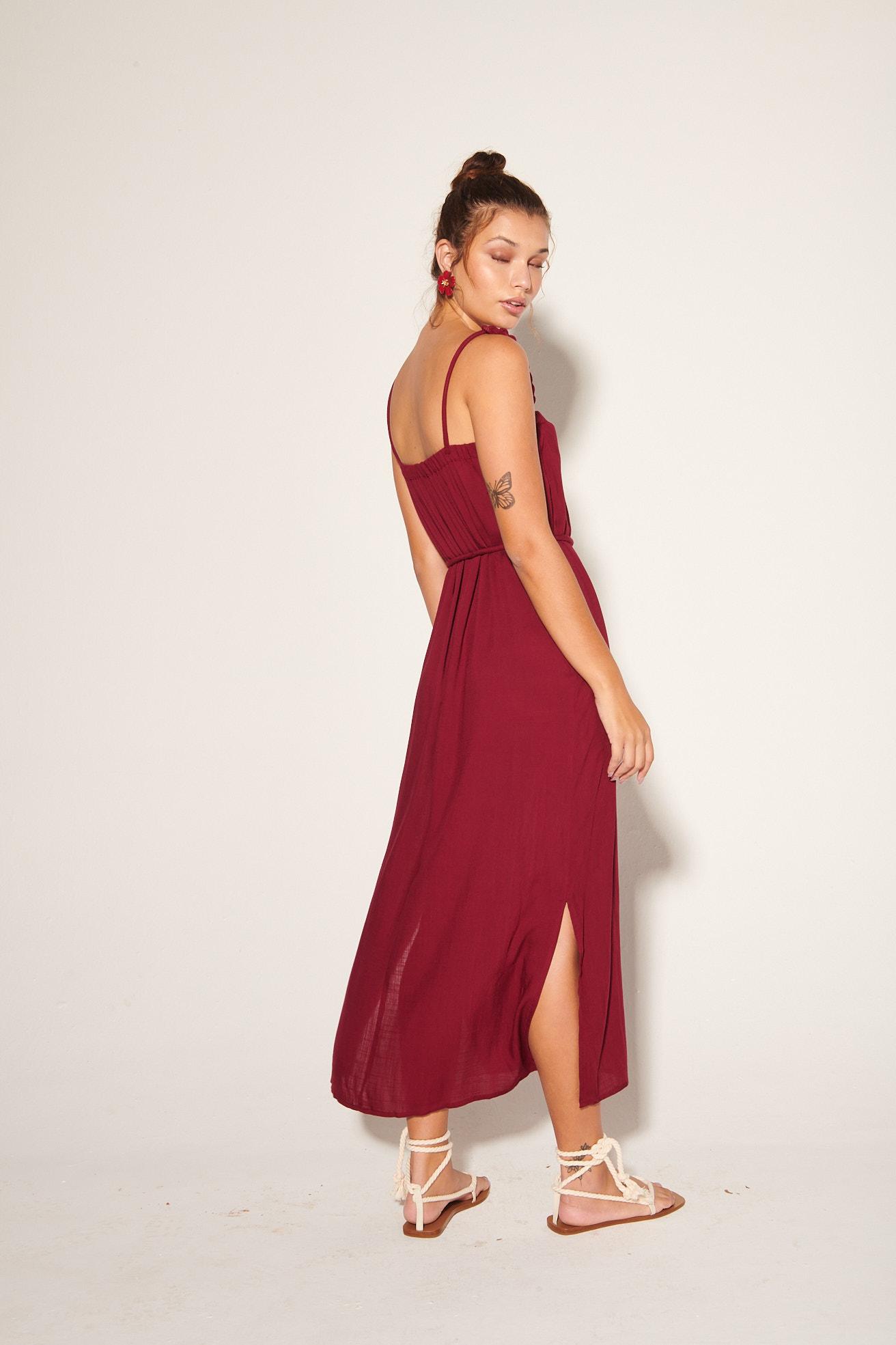 Vestido Chiara Vinho