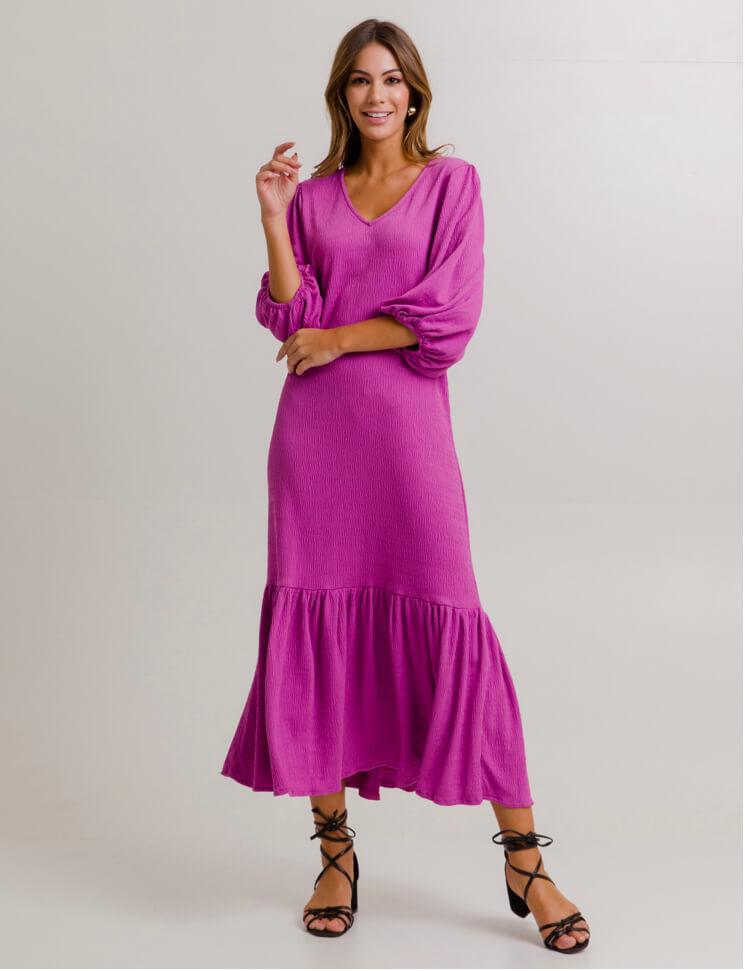 Vestido Midi Sara Rosa