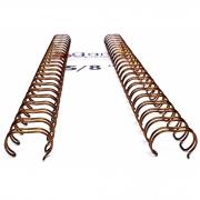 35 Unidades  Wire-o Encadernação 5/8polegada = 1,6cm Cinch Passo 2:1 - BRONZE