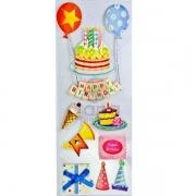Adesivos fofinhos Gana Presentes Happy Birthday I - 1