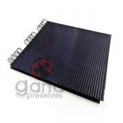 Álbum para Scrapbook e Livro de Assinaturas P Preto 24x21,5cm 20 folhas espiral 24x22,5cm