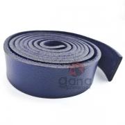Alça de couro sintético Azul para cartonagem e forração francesa
