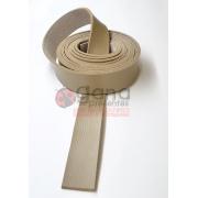 Alça de couro sintético Bege 2,5cm para cartonagem e forração francesa - 2 metros