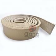 Alça de couro sintético Bege para cartonagem e forração francesa
