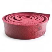 Alça de couro sintético Vermelho para cartonagem e forração francesa