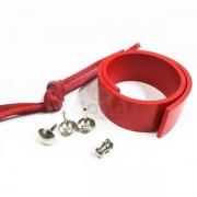 Alças de couro para maletas e caixas - forração francesa Alça Vermelha P/M maleta ou caixa ballet