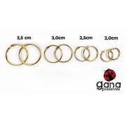 Argola Articulada Dourada Para Álbuns E Blocos Metais - 35mm 2 unidades