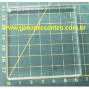 Base de Acrílico para carimbo 6,5cm X 6,5X6,5cm - 100905P