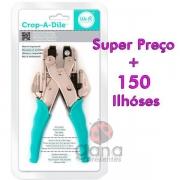 Crop-A-Dile - Fixador de ilhós + 150 ilhóses scrapbook com ilhoses 910530