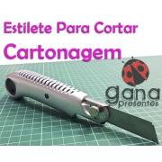Estilete Profissional Cartonagem - Corte De Holler, Papelão cinza, couro Paraná afins- cinza