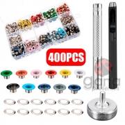 Kit Aplicador de Ilhós Colorido com 400 ilhóses