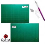 Kit de corte Base 60x45cm +estilete Precisão Estilete Bisturi