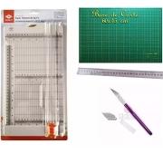 Kit de Corte Guilhotina+base 60x45+ Régua 30cm+estilete