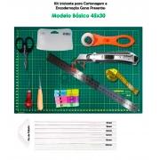 Kit iniciante para cartonagem Modelo Básico 45x30 de