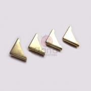 Metais - Cantoneira para capa fechada com chapa reta Dourado 1,5cm