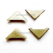 Metais - Cantoneira para capa fechada com chapa reta Ouro Velho 1,5cm
