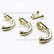 Metais - Gancho Porta Chaves Dourado