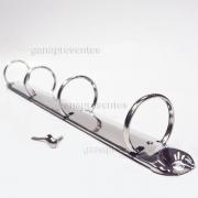 Metais - Garra para fichário circular 4 argolas 30mm 10 unidades