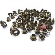 Metais - Ilhós de Alumínio nº54 Ouro Velho 4,7mm ou 3/16 para scrap e cartonagem 1000
