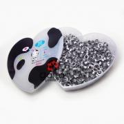 Metais - Ilhós de Alumínio nº54 Prata Fosco 4,7mm 500 unid + Caixinha Coração