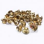 Metais - Ilhós de Ferro nº54 Dourado 4,7mm ou 3/16 para cartonagem 200