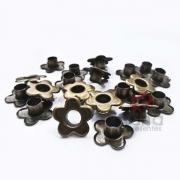 Metais - 100 Ilhós Flor Aluminio para peças de cartonagem e artesanato
