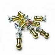 Metais - Puxador de metal carrapeta 8mm Dourado para cartonagem com 10 unid
