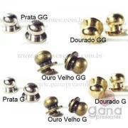 Metais - Puxador de metal G para peças cartonagem GG PRATA 101135