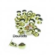 Metais - Rebite de Ferro para Cartonagem 50 unid 5mm Dourado