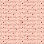 Tecido de Revestimento cartonagem patchwork - Básico Rosa nº432 I Love You