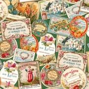 Tecido de Revestimento cartonagem patchwork Digital - Estampado nº361 estampa #361 Tag Perfume