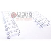 Wire-o Encadernação 5/8polegada = 1,6cm Cinch Passo 2:1 - Branco