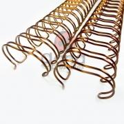 Wire-o Encadernação 7/8polegada = 2,2cm BRONZE ou PRATA Cinch Passo 2:1 -